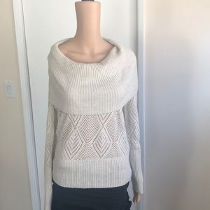 Beautiful off the shoulder- cowl neck sweater